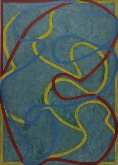 Brice Marden, Elements (Hydra) (1999-2000, 2001), via Phillips
