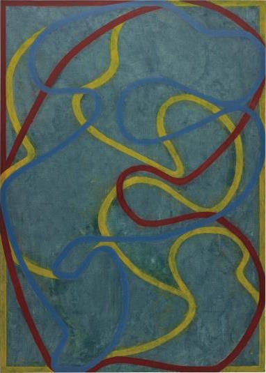 Brice Marden, Elements (Hydra) (1999-2000/2001), via Phillips