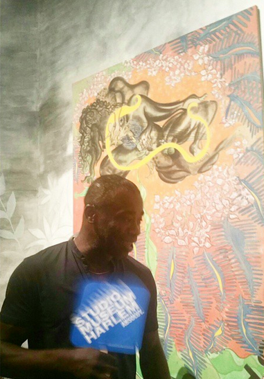 Chris Ofili with new work, via Art Observed