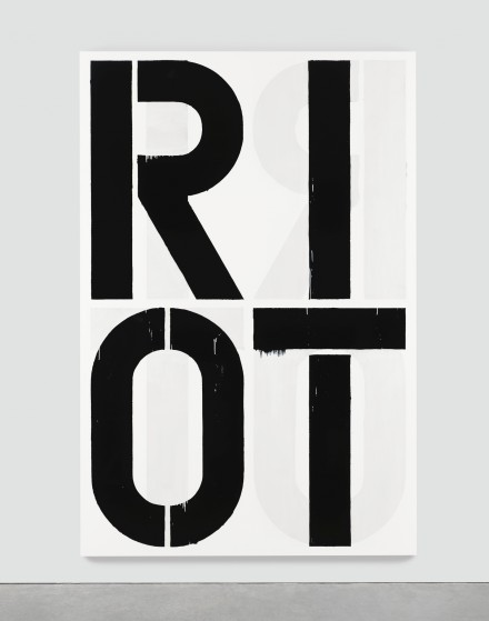 Christopher Wool, Riot (1990), via Sotheby's