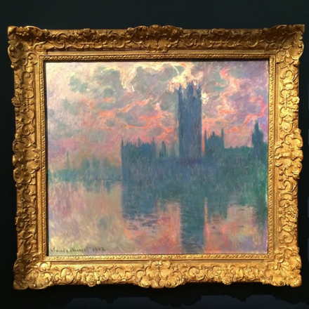 Claude Monet, Le Parlement (1901), via Art Observed