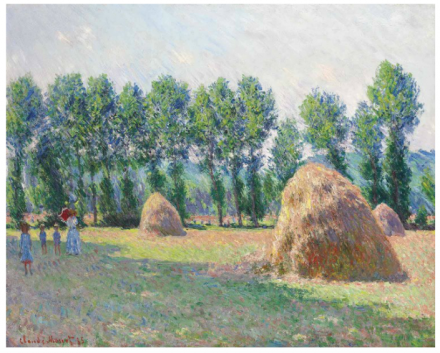 Claude Monet, Les meules à Giverny (1885), via Christie's