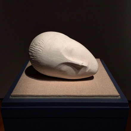Constantin Brancusi, La Muse Endormie I (1922), via Art Observed