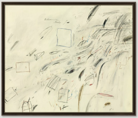 Cy Twombly, Untitled (1969), via Christie's
