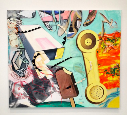 David Salle, Freak Flag (2015), via Art Observed