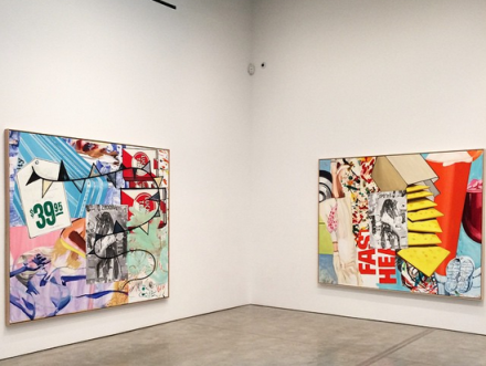 David Salle, New Paintings (Installation View), via Art Observed
