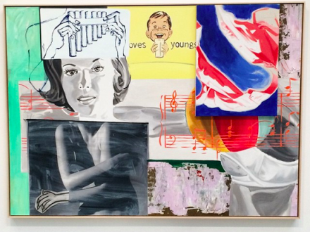 David Salle, Odes and Aires (2014), via Art Observed