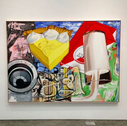 David Salle, Yellow Fellow (2015), via Art Observed
