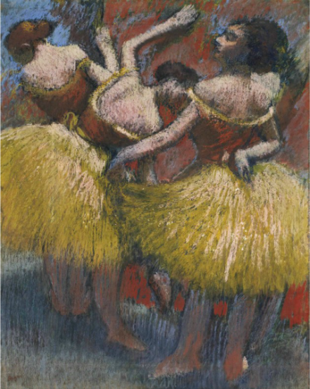 Edgar Degas, Trois Denseuses (1900), via Christie's