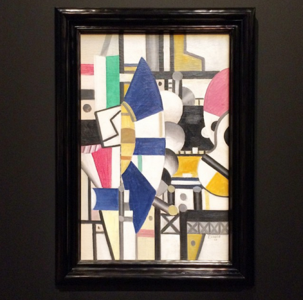 Fernand Léger, La Roue Bleue, État Définitif (1920), via Art Observed