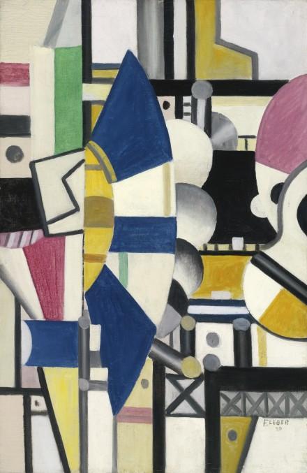 Fernand Léger, La Roue Bleue, État Définitif (1920), via Sotheby's