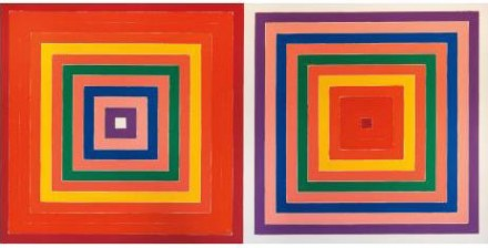 Frank Stella, Double Scramble (1978), via Phillips