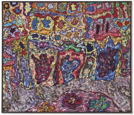 Jean Dubuffet, Paris Polka (1961), via Christie's
