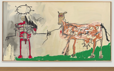 Jean-Michel Basquiat, The Field Next to the Other Road (1981), via Christie's