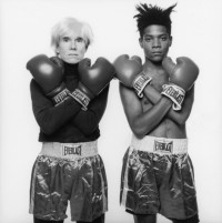 Jean-Michel Basquiat and Andy Warhol, via NY Mag