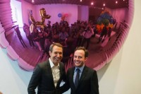 Jeff Koons and Scott Rothkopf, via NYT