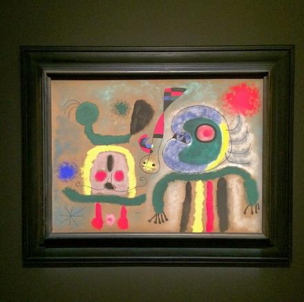 Joan Miro, L'oiseau Encerclant D'or Étincelant La Pensée Du Poète (1951), via Art Observed