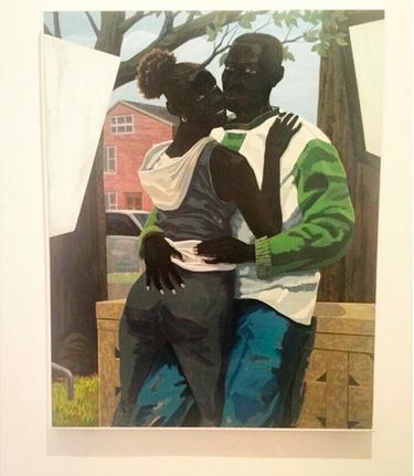 Kerry James Marshall, Untitled (Lovers) (2015), via Art Observed