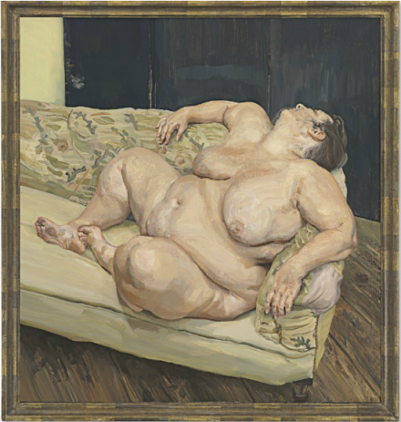 Lucian Freud, Benefits Supervisor Resting (1994), via  Christie's
