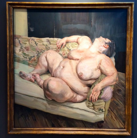 Lucian Freud, Benefits Supervisor Resting, via Art Observed