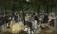 Manet's Music in the Tuileries Gardens, via Guardian