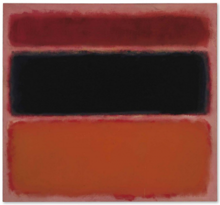 Mark Rothko, No 36 (Black Stripe) (1958), via Christie's