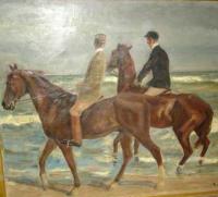 Max Liebermann, Two Riders on the Beach, via WSJ