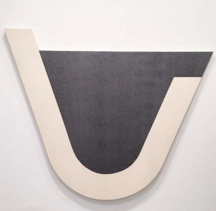 Michael Heizer, U Painting (1975), via Art Observed