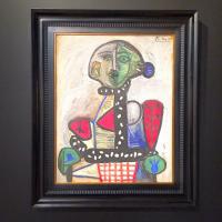 Pablo Picasso, Femme Au Chignon Dans Un Fauteuil (1948), via Art Observed