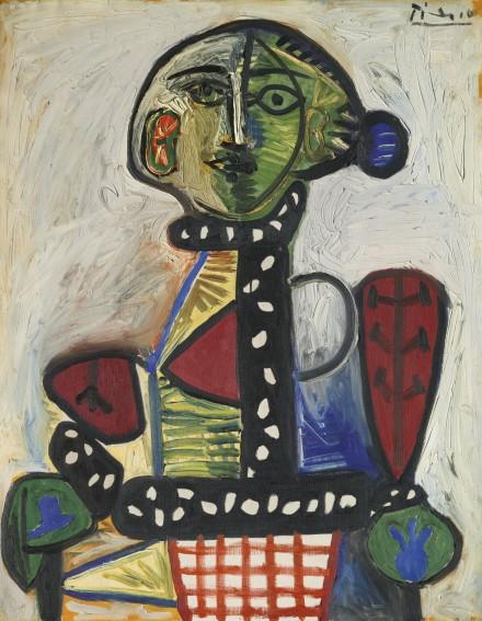 Pablo Picasso, Femme Au Chignon Dans Un Fauteuil (1948), via Sotheby's