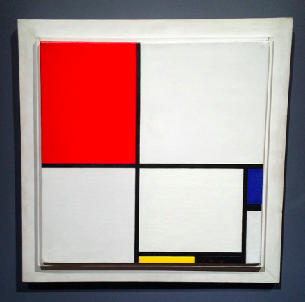 Piet Mondrian, Composition No III Red, Blue, Yellow, and Black, (1929), via Art Observed