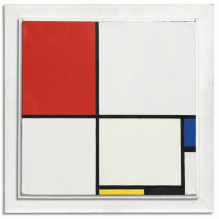 Piet Mondrian, Composition No III, with Red, Blue, Yellow, and Black (1929), via Christie's