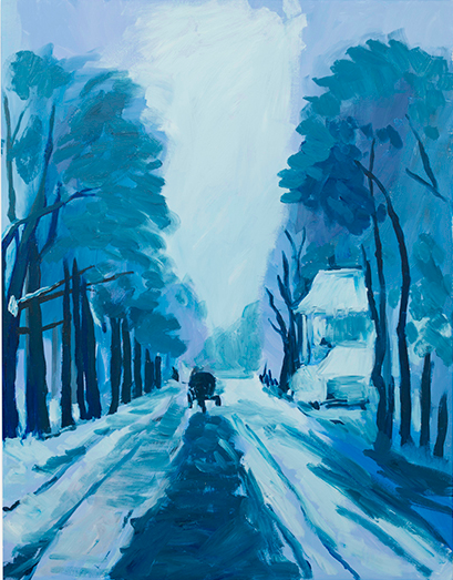 "Karen Kilimnik, ""THE COLD WINTER LANE, THE POLISH COUNTRYSIDE, A DELFT LANDSCAPE,"" 2013 via Sprueth Mager"