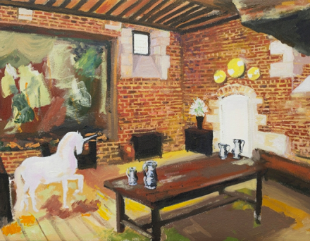 Karen Kilimnik, Leonardo Da Vinci's Living Room, Amboise 1500 (2014) Via Sprüth Magers