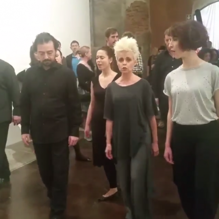 Singers perform Haydn for Allora and Calzadilla's In the Midst of Things, via Art Observed