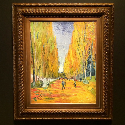 Vincent Van Gogh, L'Allée des Alyscamps (1888), via Art Observed