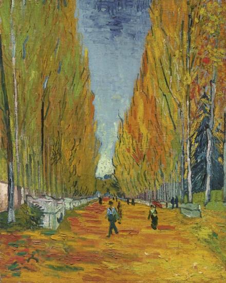 Vincent Van Gogh, L'allée Des Alyscamps (1888), via Sotheby's
