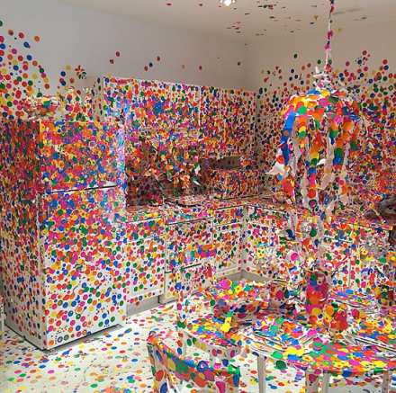 Yayoi Kusama, Obliteration Room (2002 - present), via Art Observed
