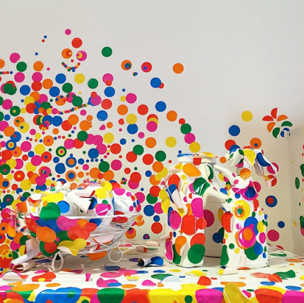 Yayoi Kusama, Obliteration Room (detail) (2002 - present), via Art Observed