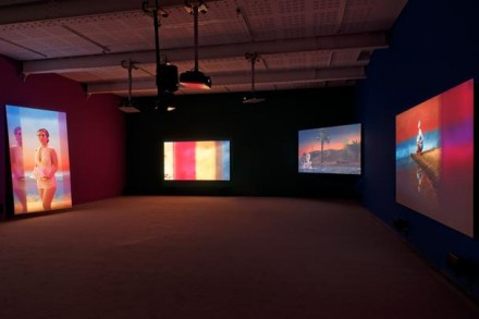 Yang Fudong, The Coloured Sky: New Women II (Installation View), via Marian Goodman Gallery