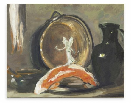 Karen Kilimnik, The Fairy Cleaning The Copper Pot With Fairy Dish Soap (2014) Via Spruth Magers