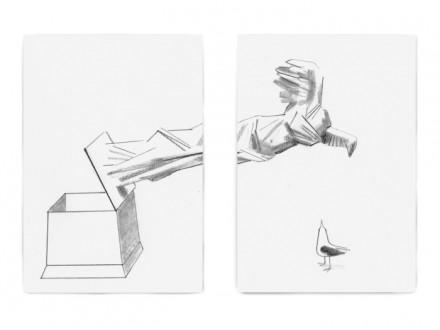 Christoph Niemann, Helden in Pantoffeln and Definition des Ruhms 2015, via the artist and Galerie Max Hetzler, Berlin I Paris, photo: def-image.com