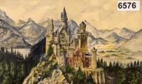 A Hitler watercolor of Neuschwanstein Castle in Bavaria, via NYT