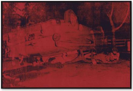 Andy Warhol, Five Deaths (1963), via Christie's