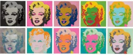 Andy Warhol, Marilyn Monroe (1967), via Phillips