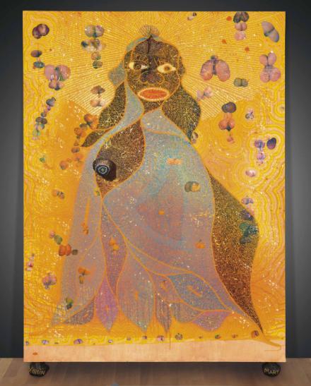 Chris Ofili, The Holy Virgin Mary (1996), via Christie's