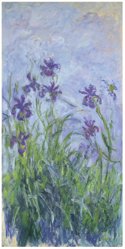 Claude Monet, Iris Mauves (1914-1917), via Christie's