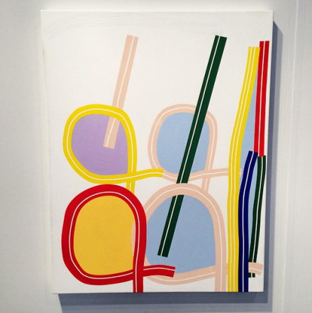 Eric Shaw at Greenpoint Terminal Gallery's NEWD Booth,  via Art Observed