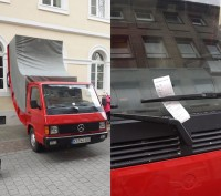 Erwin Wurm's Truck with parking ticket, via The Local