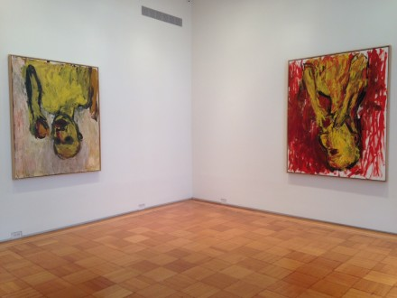 Georg Baselitz, Drinkers and Orange Eaters (Installation View)